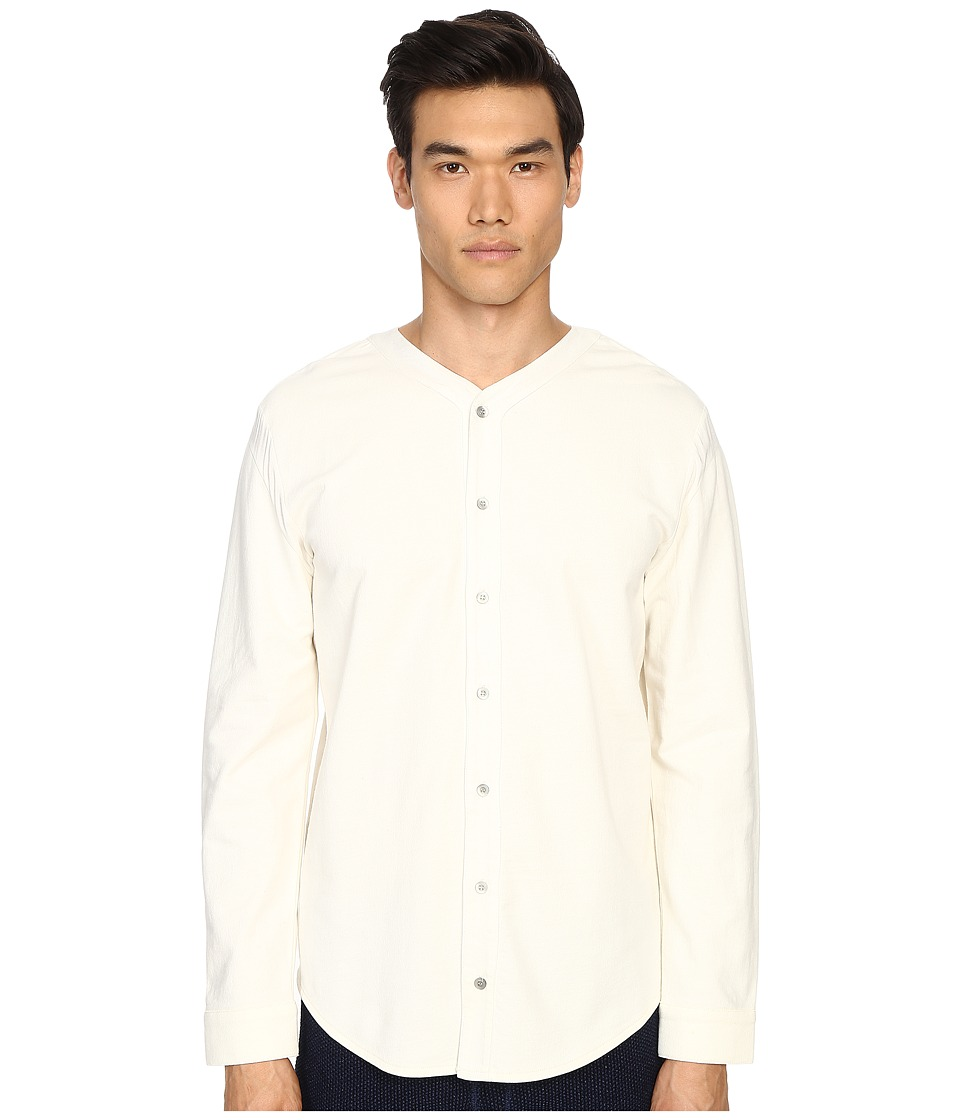 Matiere - Bigsby French Terry Button Up (White) Men's Short Sleeve Button Up