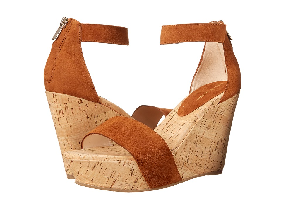 Pelle Moda - Clare (Cognac Kid Suede) Women's Wedge Shoes