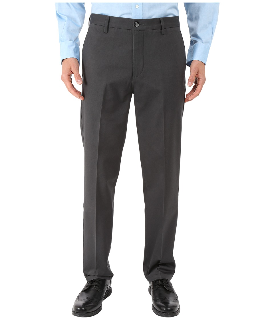 Dockers Men's - Signature Khaki D1 Slim Fit Flat Front (Steelhead Stretch 2) Men's Dress Pants