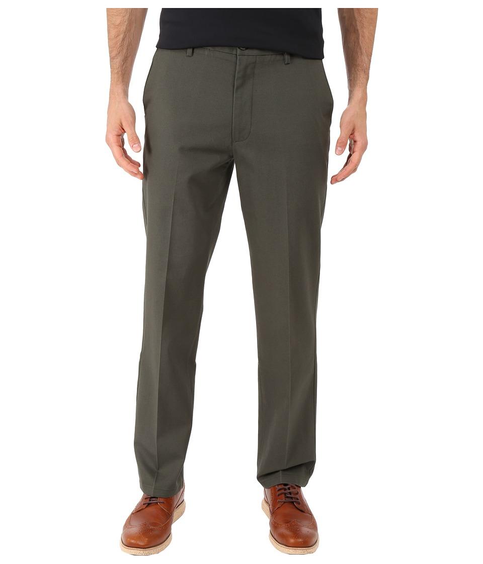 Dockers Men's - Signature Khaki D1 Slim Fit Flat Front (Olive Grove Stretch) Men's Dress Pants