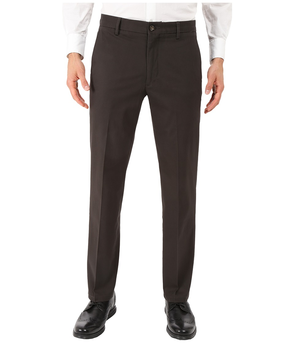 Dockers Men's - Signature Khaki D1 Slim Fit Flat Front (Coffee Bean Stretch 2) Men's Dress Pants