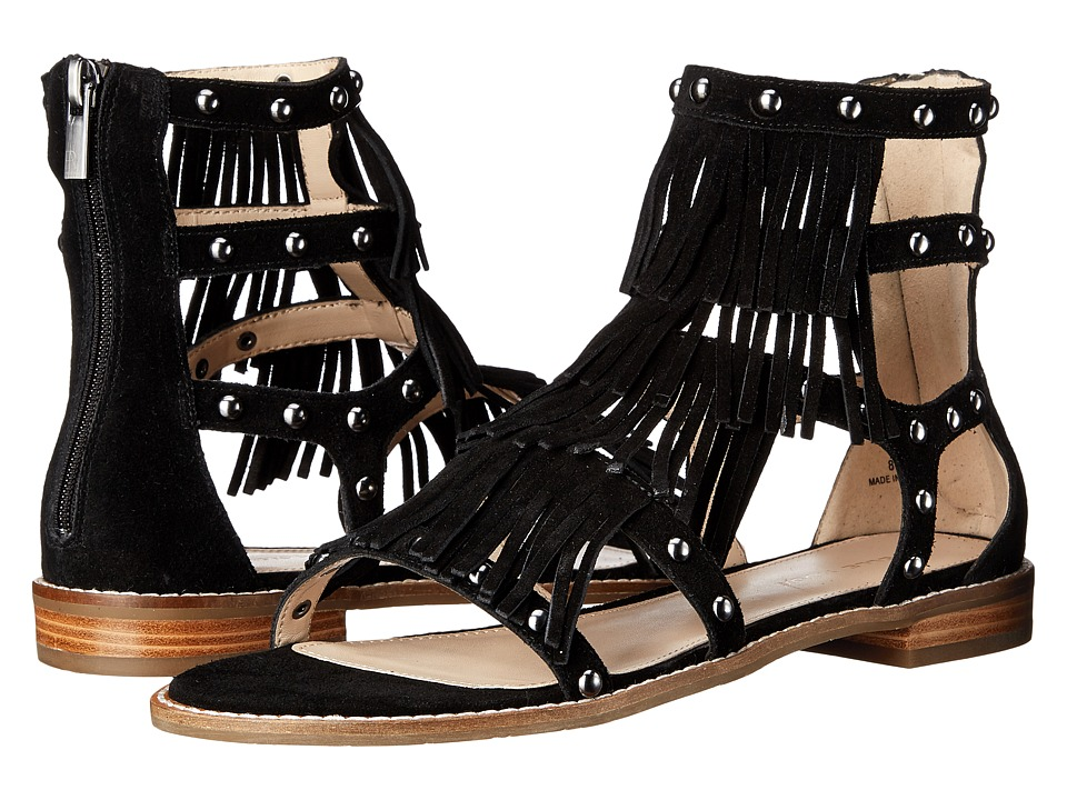 Pelle Moda - Helen 2 (Black Calf Suede) Women's Sandals