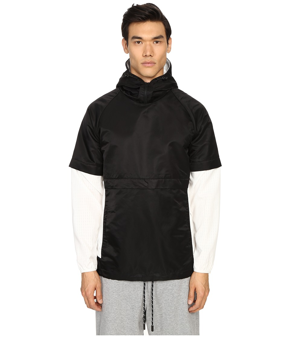 Matiere - Franco Japanese Paneled Anorak (Black/White) Men's Coat