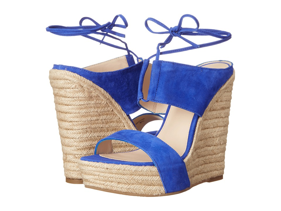 Pelle Moda - Olive (Cobalt Kid Suede) Women's Wedge Shoes