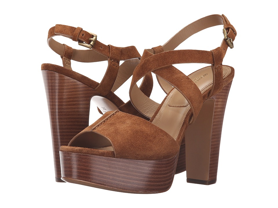 Michael Kors - Gramercy (Luggage Sport Suede) Women's Dress Sandals
