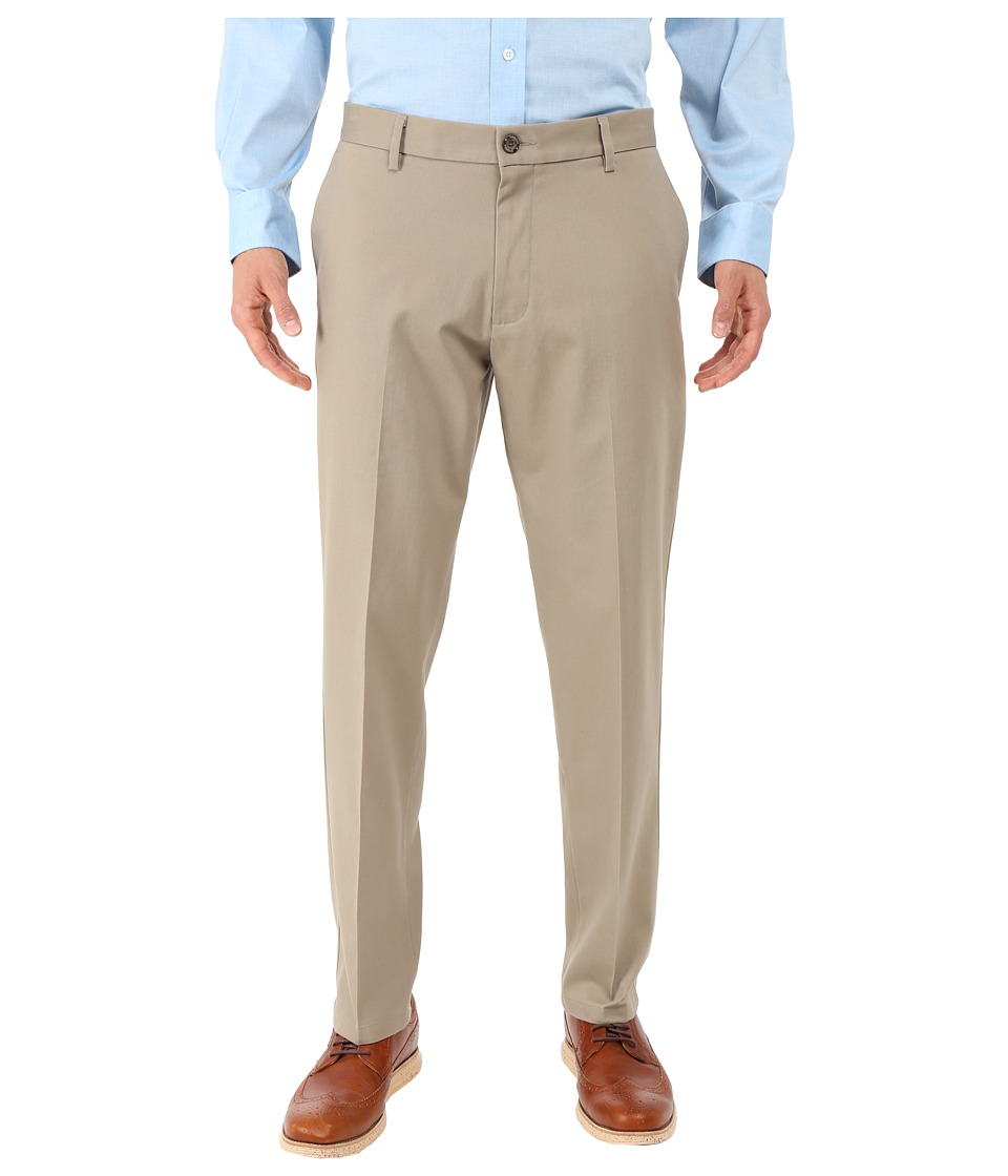 Dockers Men's - Signature Khaki Athletic Flat Front Stretch (Timber Wolf) Men's Casual Pants