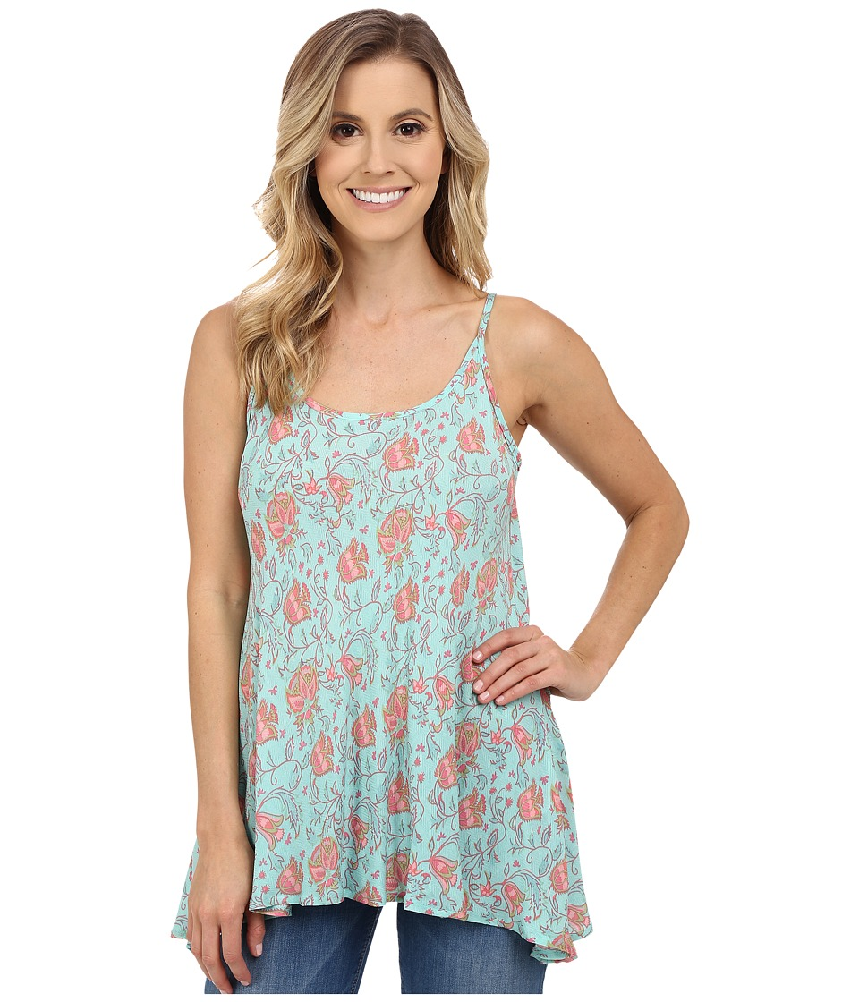 Stetson - Tulip Print Cami (Blue) Women's Sleeveless