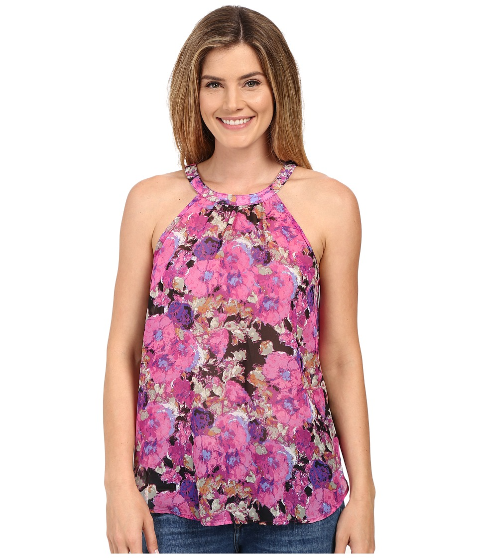 Stetson - Floral Print Poly Chiffon Sleeveless (Pink) Women's Sleeveless