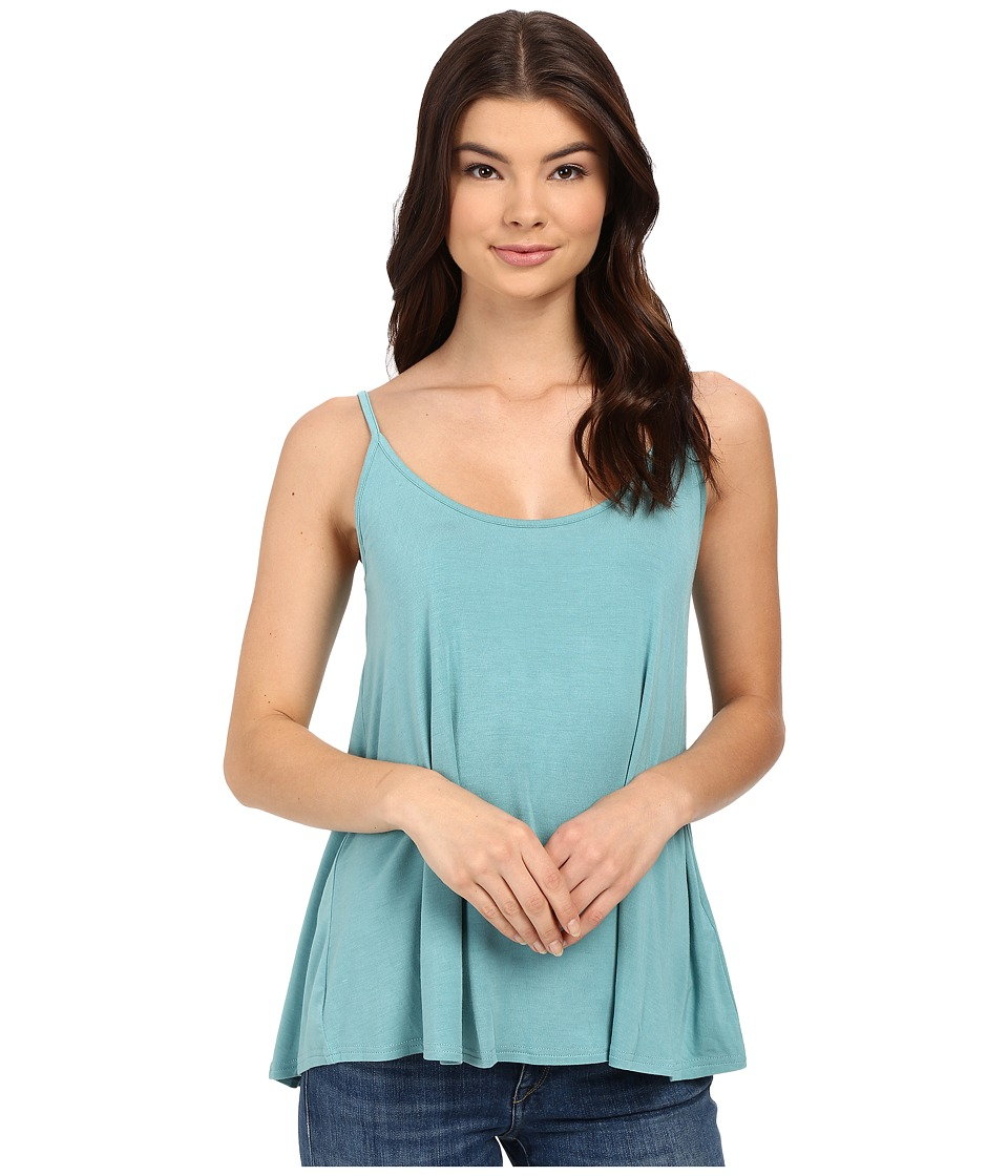 Stetson - Turquoise Rayon Spandex Jersey Tank Top (Blue) Women's Sleeveless