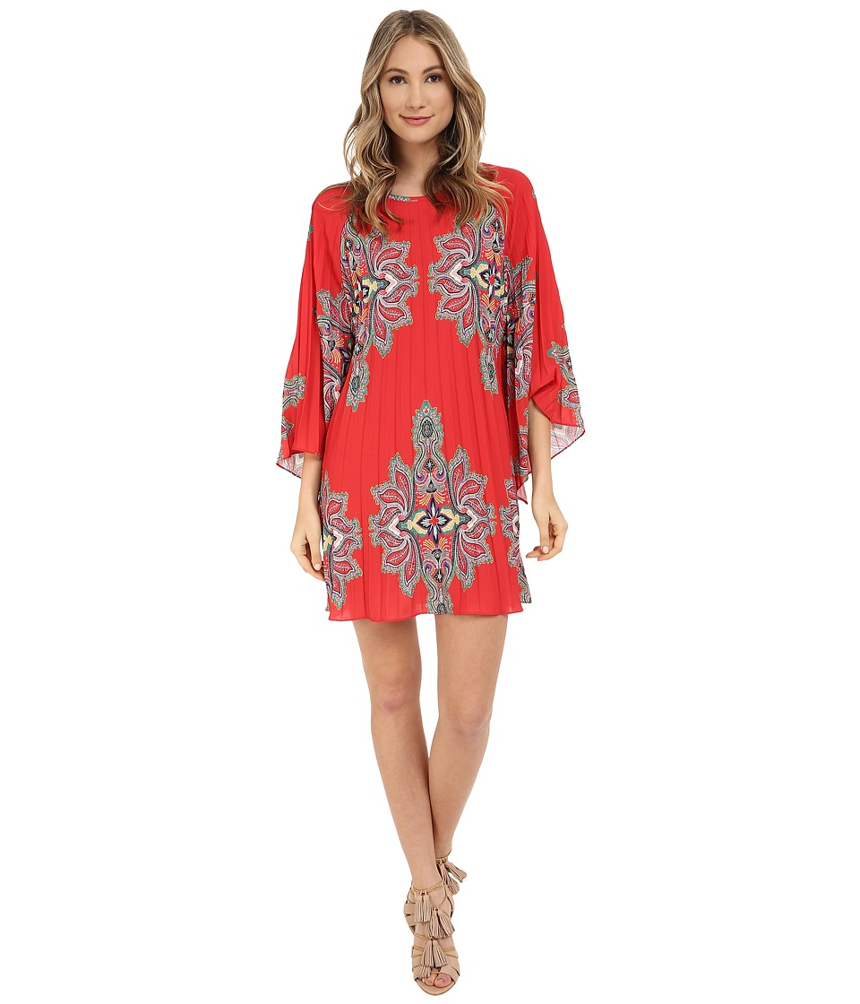 Nicole Miller - Bali Melanie Permanent Pleat Dress (Multi) Women