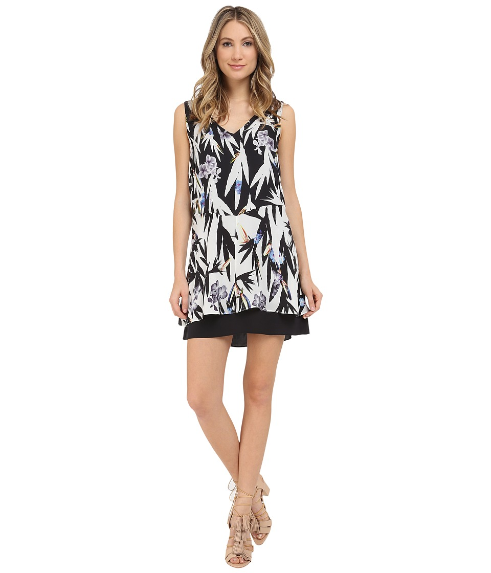 Nicole Miller Hummingbird Silk Dress (Multi) Women