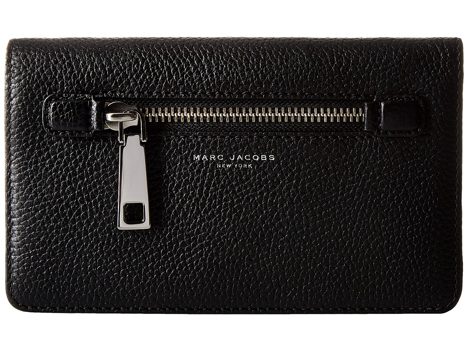 Marc Jacobs - Gotham Wallet Leather Strap (Black) Wallet Handbags