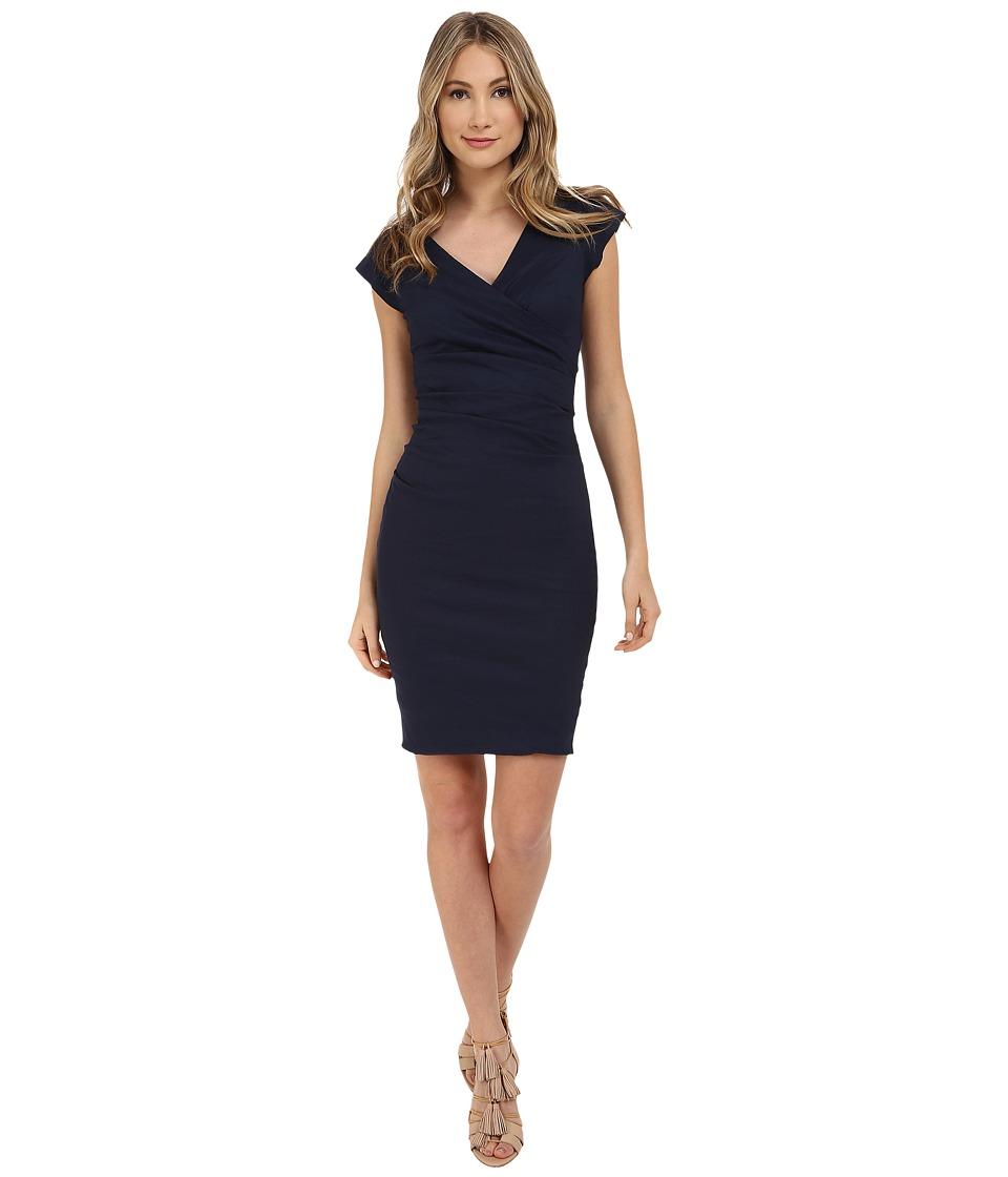 Nicole Miller Beckett Classic Dress (Navy) Women