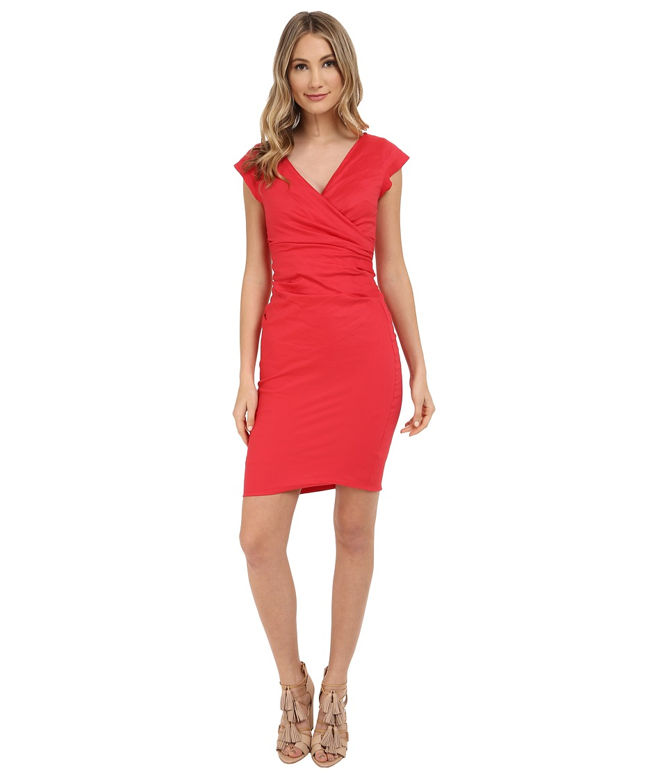 Nicole Miller Beckett Classic Dress (Watermelon) Women