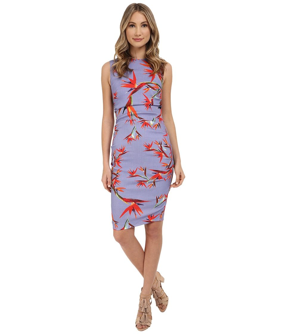 Nicole Miller Birds in the Birds Linen Lauren Dress (Lilac/Multi) Women