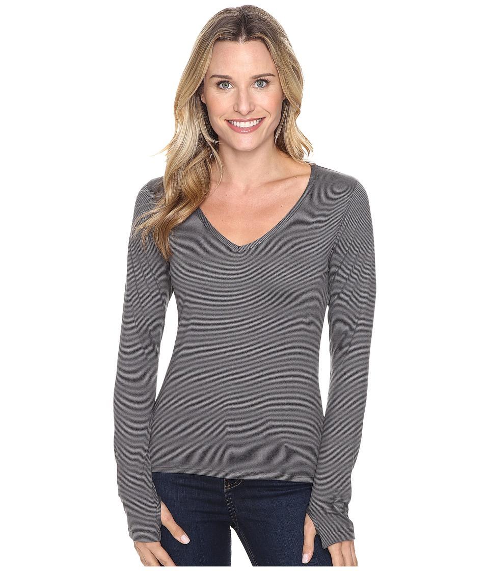 Stonewear Designs - Sportee Long Sleeve (Granite Stripe) Women's Clothing