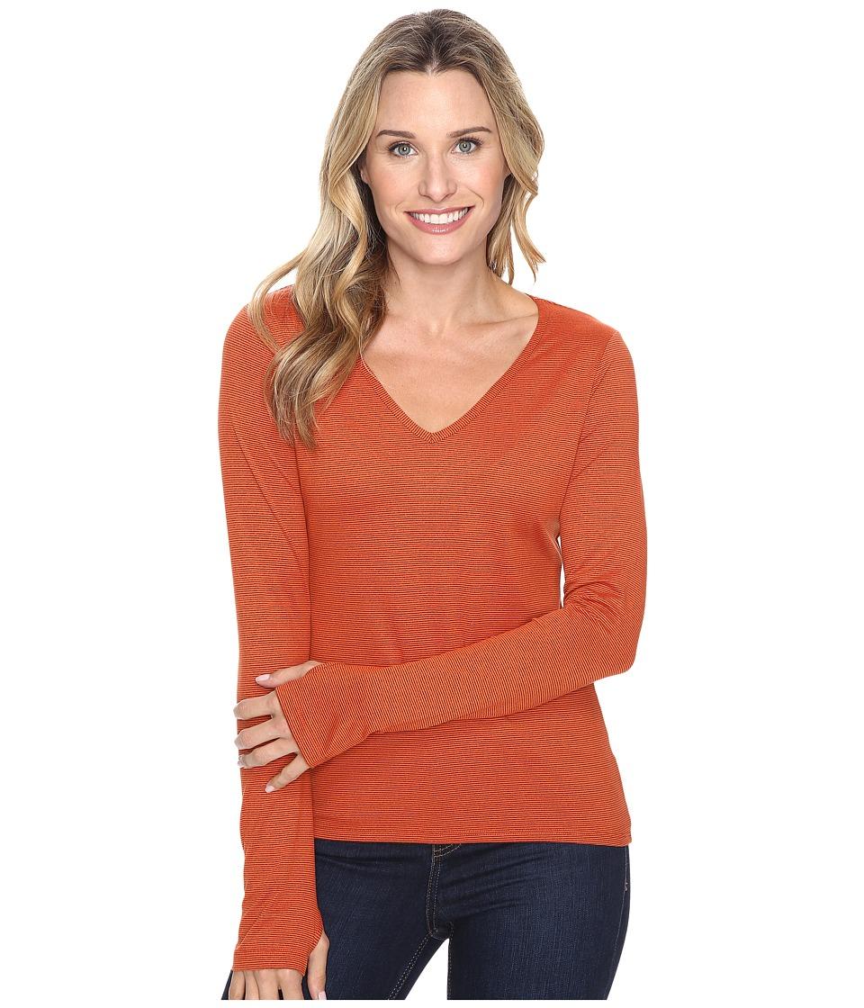Stonewear Designs Sportee Long Sleeve (Autumn Stripe) Women