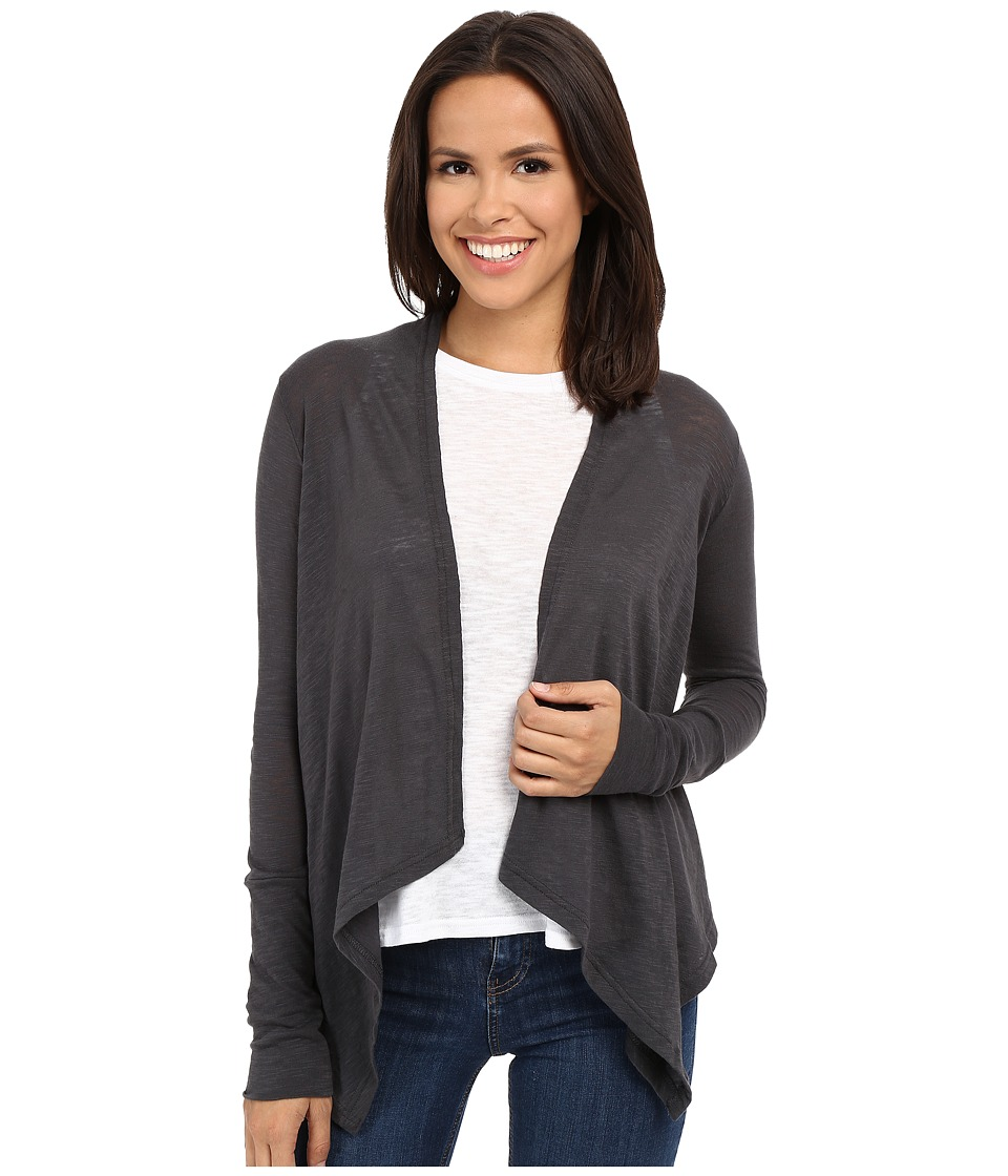 Stetson - Heather Grey Jersey Long Sleeve Cardigan (Grey) Women's Blouse