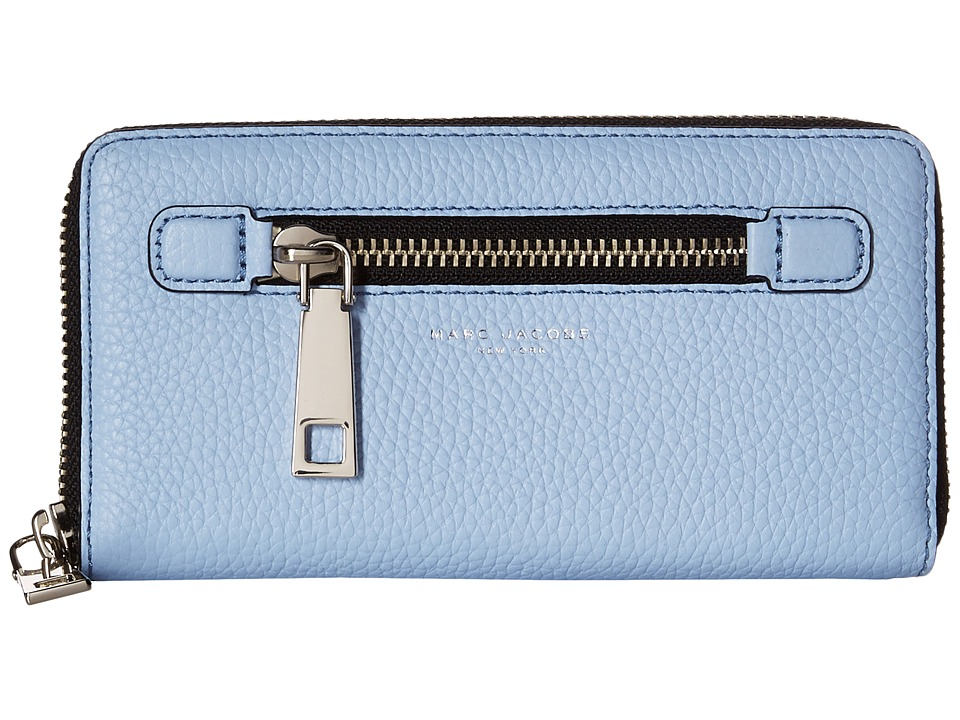 Marc Jacobs - Gotham Continental Wallet (Cielo) Wallet Handbags