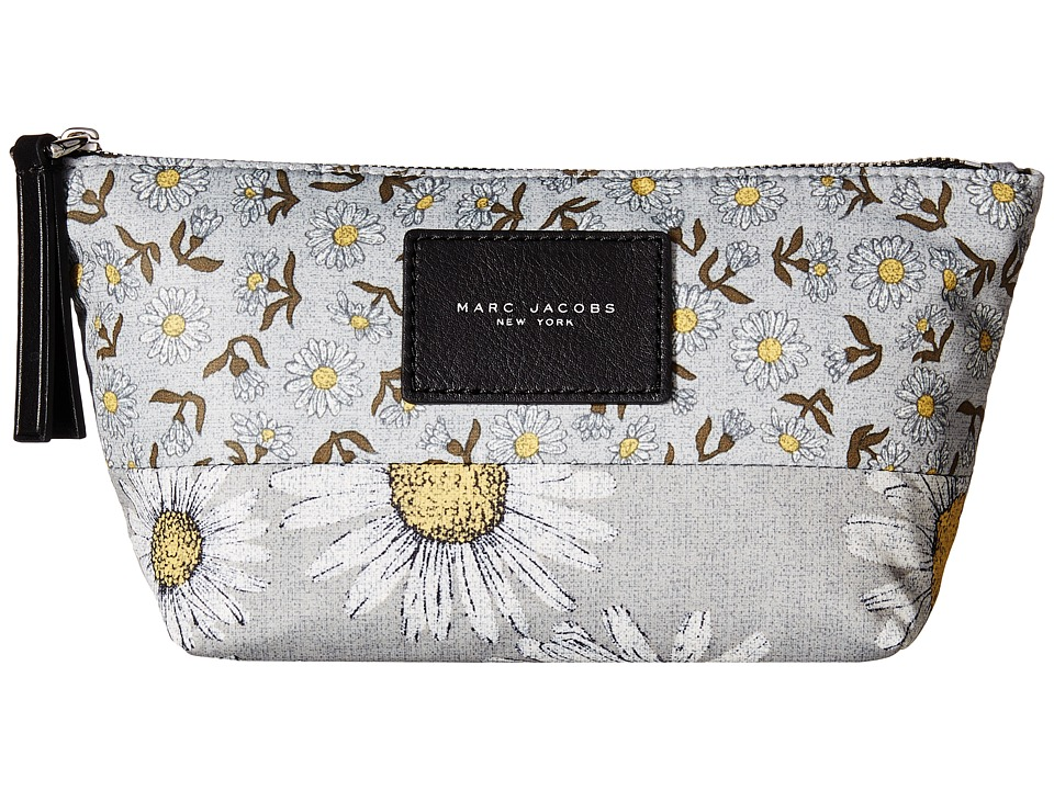 Marc Jacobs - BYOT Mixed Daisy Flower Cosmetics Trapezoid (Grey Multi) Cosmetic Case