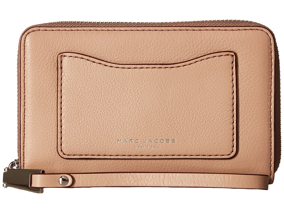 Marc Jacobs - Recruit Zip Phone Wristlet (Nude) Wristlet Handbags