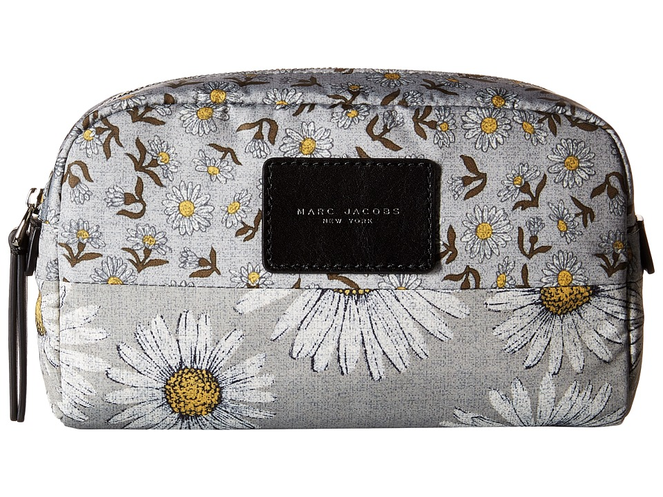 Marc Jacobs - BYOT Mixed Daisy Flower Cosmetics Large Cosmetic (Grey Multi) Cosmetic Case