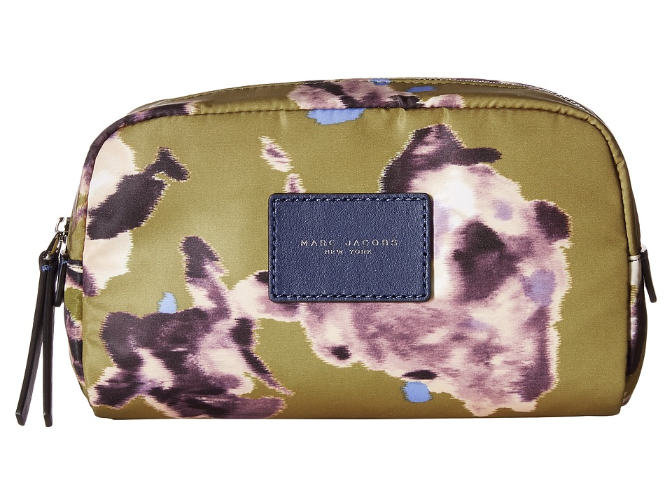 Marc Jacobs - BYOT Brocade Floral Cosmetics Large Cosmetic (Chartreuse Multi) Cosmetic Case