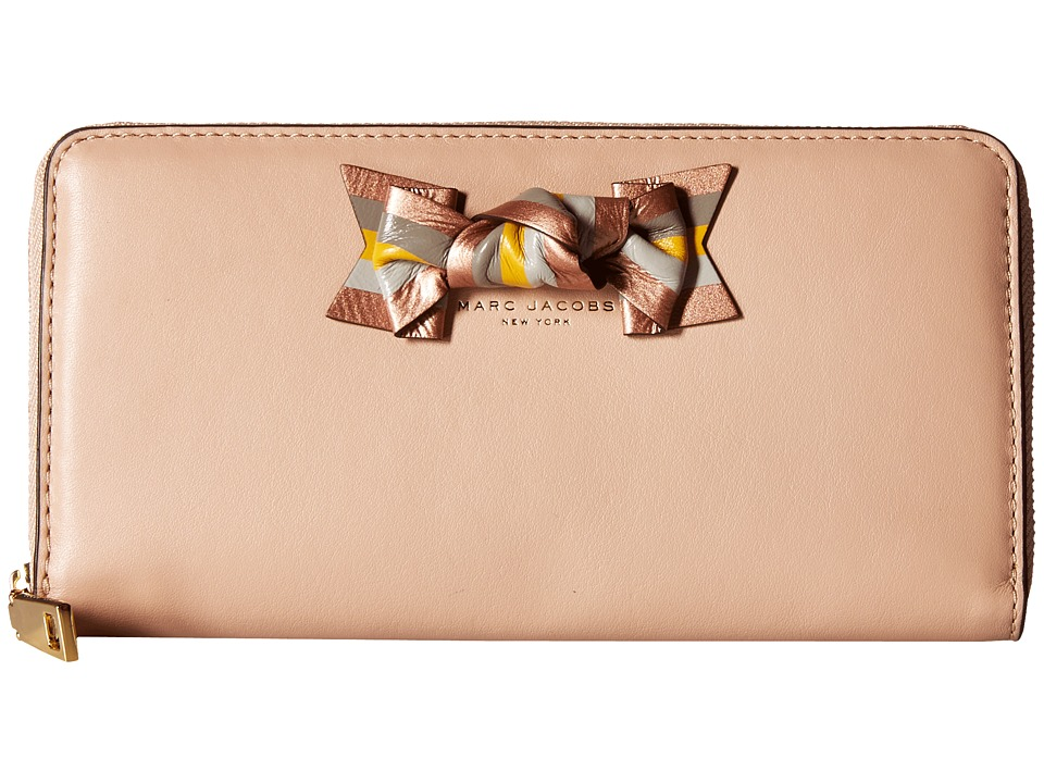 Marc Jacobs - Bow Standard Continental Wallet (Nude) Continental Wallet