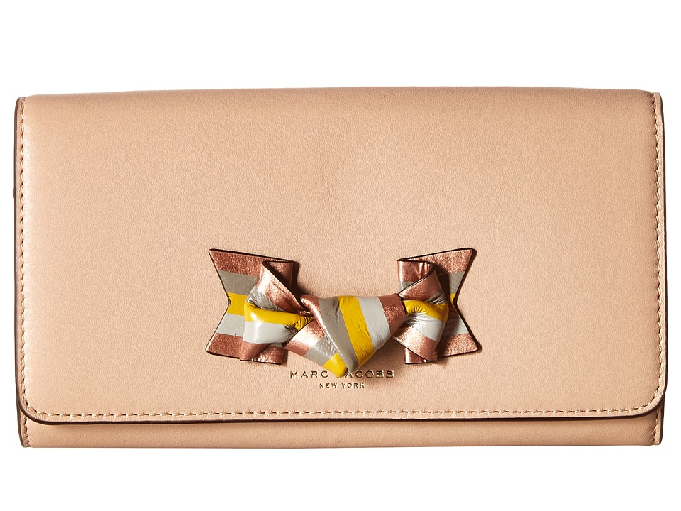 Marc Jacobs - Bow Flap Continental (Nude) Continental Wallet
