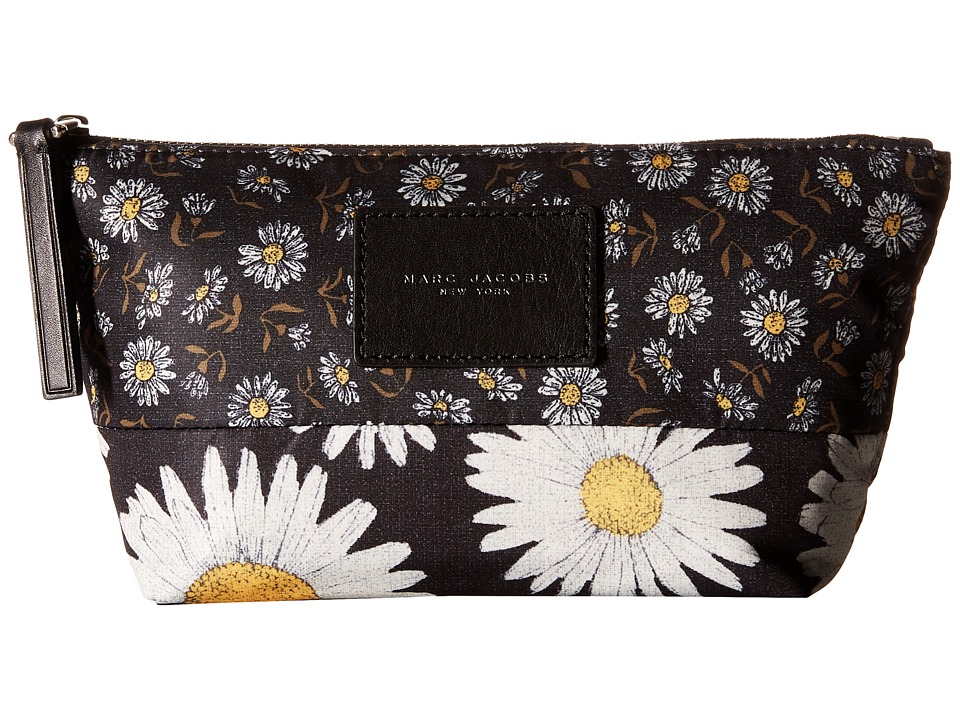 Marc Jacobs - BYOT Mixed Daisy Flower Cosmetics Trapezoid (Black Multi) Cosmetic Case