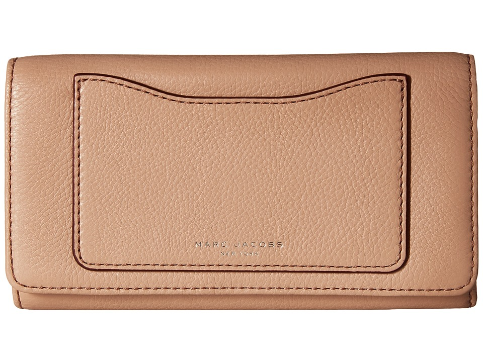 Marc Jacobs - Recruit Flap Continental (Nude) Continental Wallet
