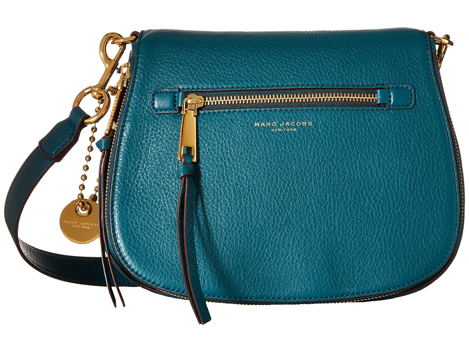 Marc Jacobs - Recruit Saddle Bag (Teal) Handbags