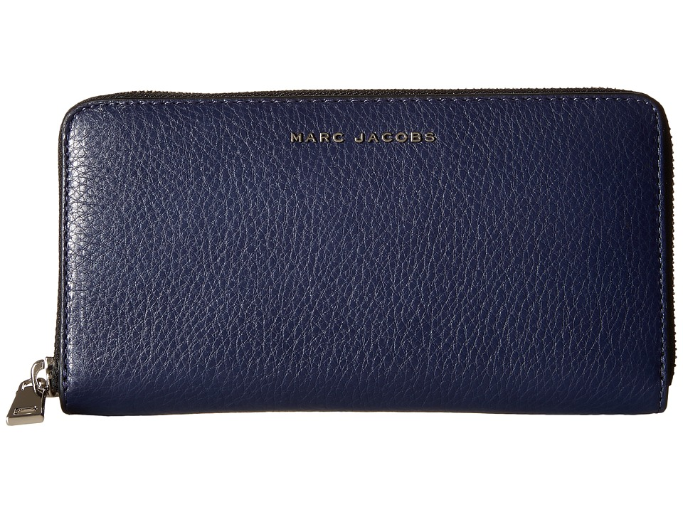 Marc Jacobs - Wingman Standard Continental Wallet (Midnight Blue Multi) Continental Wallet