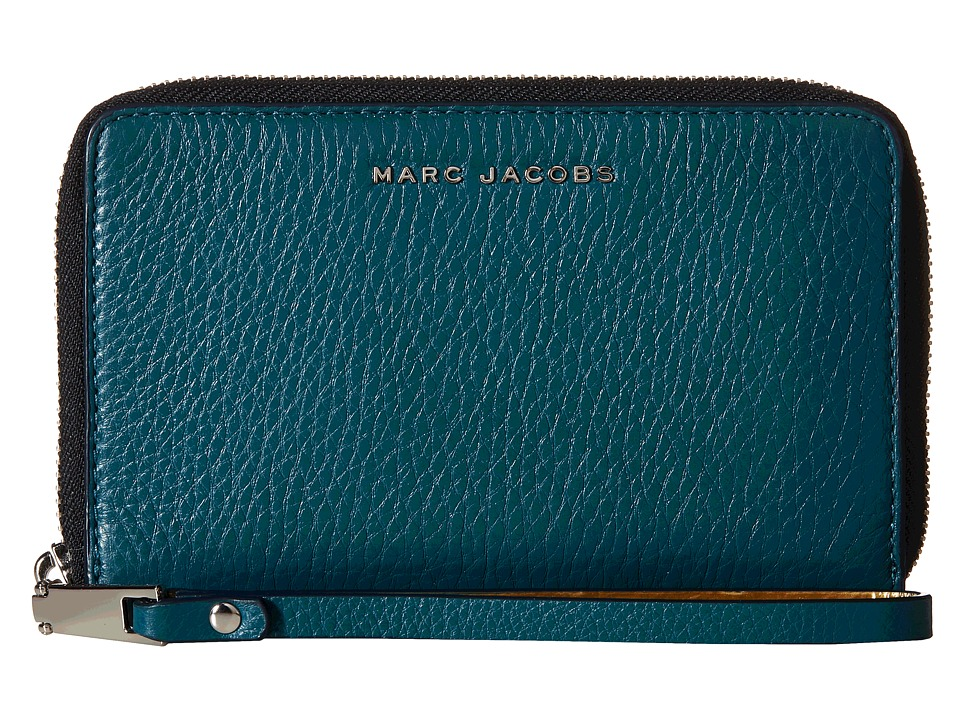 Marc Jacobs - Wingman Zip Phone Wristlet (Teal Multi) Wristlet Handbags
