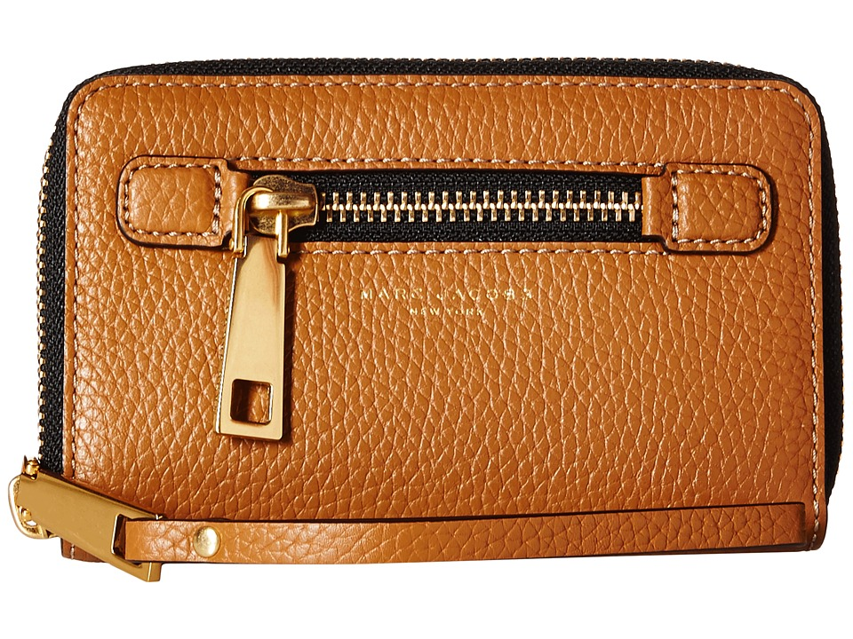 Marc Jacobs - Gotham Zip Phone Wristlet (Maple Tan) Wristlet Handbags