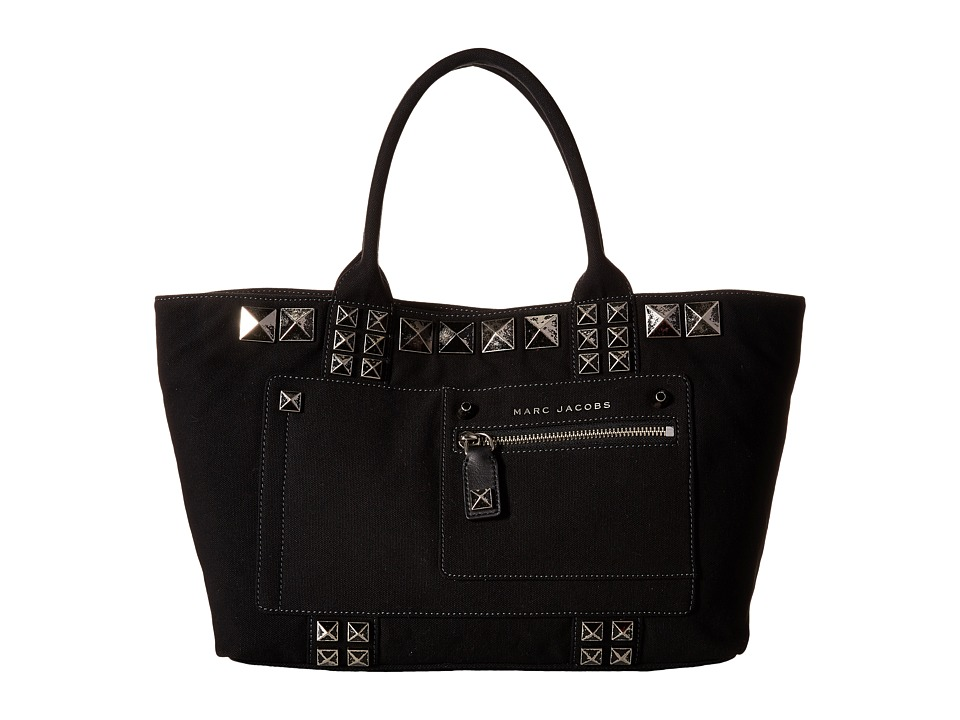 Marc Jacobs - Canvas Chipped Studs Tote (Black) Tote Handbags