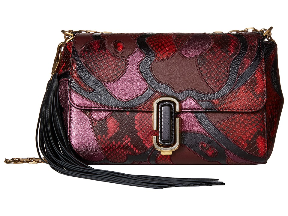 Marc Jacobs - J Marc Snake Patchwork Shoulder Bag (Rubino Multi) Shoulder Handbags