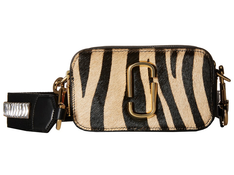 Marc Jacobs - Snapshot Zebra Small Camera Bag (Camel Multi) Handbags