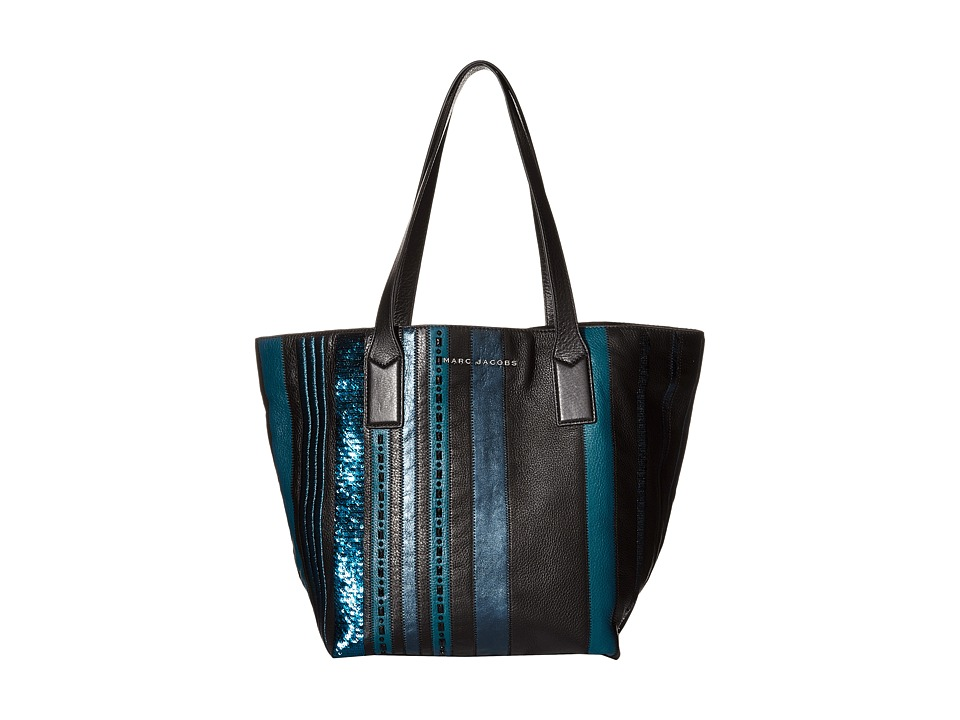 Marc Jacobs - Wingman Stripes Shopping Tote (Teal Multi) Tote Handbags