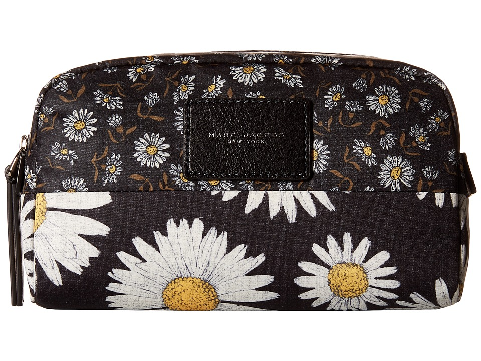 Marc Jacobs - BYOT Mixed Daisy Flower Cosmetics Large Cosmetic (Black Multi) Cosmetic Case