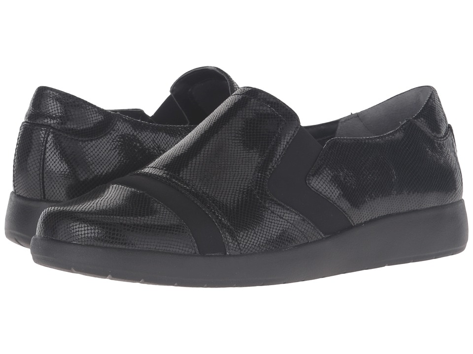 Rockport Devona Demsa (Black Shiny Leather) Women