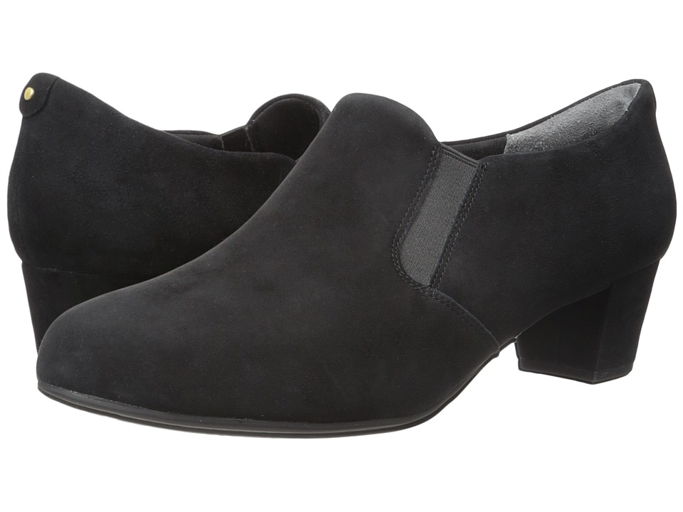 Rockport - Total Motion Cherene (Black Kid Suede) Women's Slip on Shoes