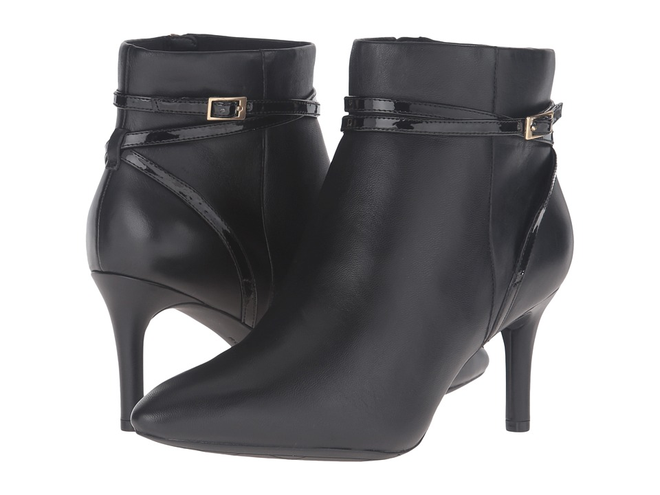 Rockport - Total Motion 75mm Strap Bootie (Black Leather) Women's Boots