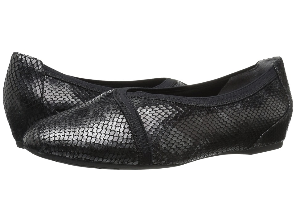 Rockport - Total Motion Envelope Flat (Black Multi Snake) Women's Slip on Shoes