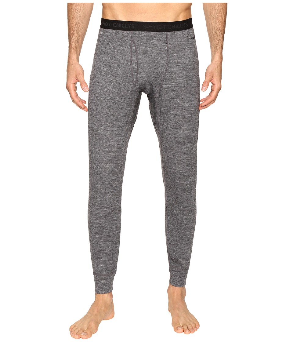 Hot Chillys - Wool Double Layer Fly Bottom (Charcoal Heather) Men's Clothing