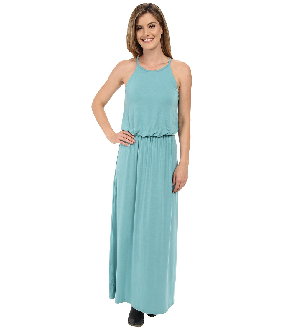 Stetson - Turquoise Rayon Spandex Maxi Dress (Blue) Women's Dress