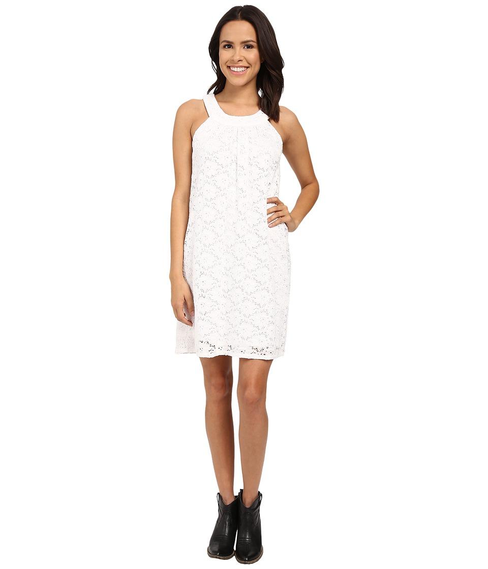 Stetson - Optic White Lace Dress (White) Women's Dress