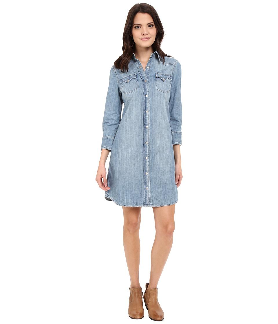 Stetson - Light Blue Denim Dress (Blue) Women's Dress