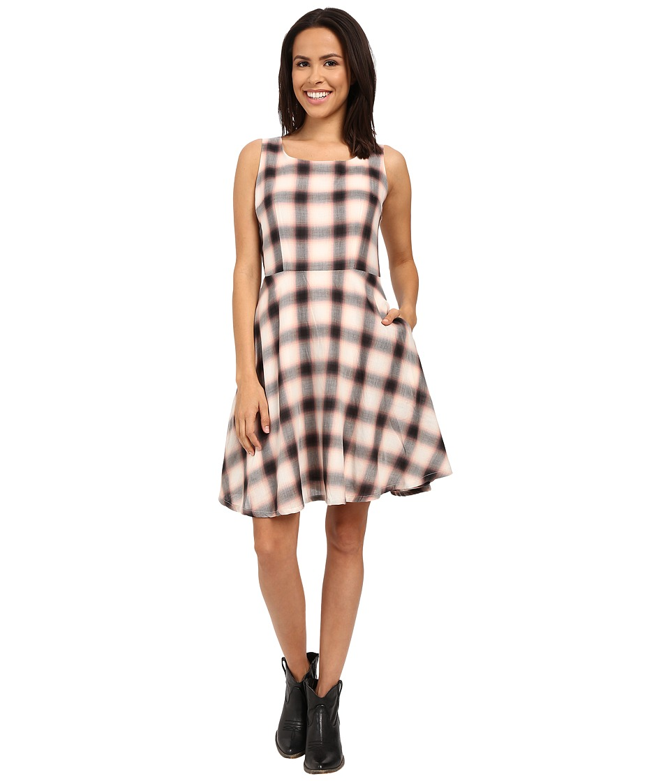 Stetson - Cameo Pink Plaid Dress (Pink) Women's Dress