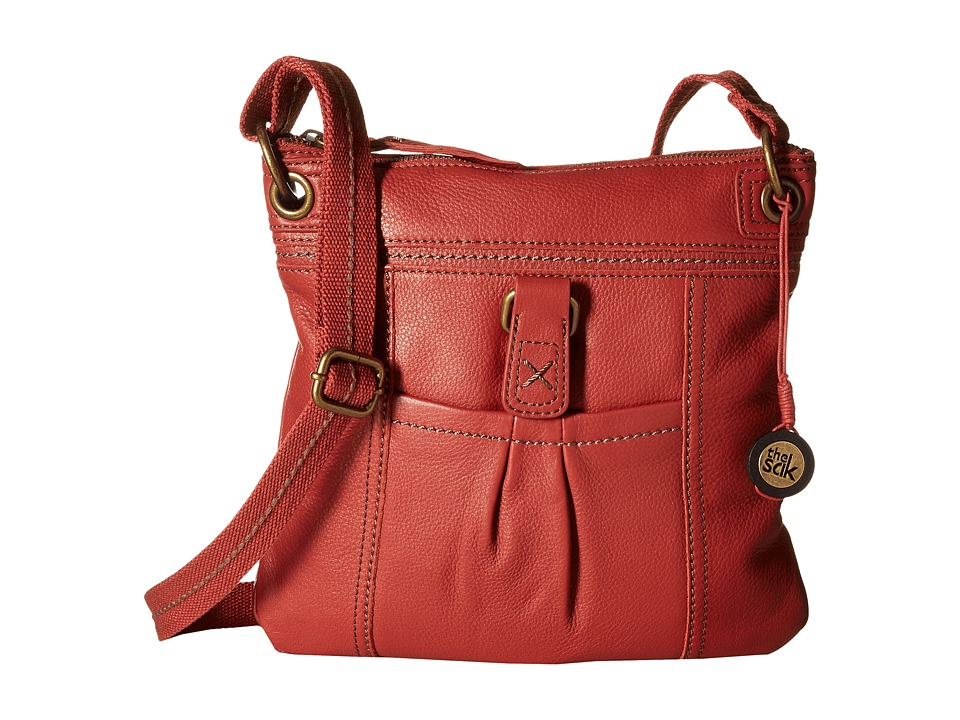 The Sak - Kendra Leather Crossbody (Sienna) Cross Body Handbags